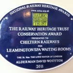 Railway Heritage Trust Conservation Award - Leamington Spa Station